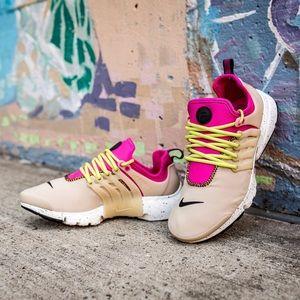 Nike Nude + Pink Air Presto Sneakers